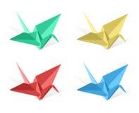 Vector origami paper crane Stock Image