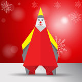 Vector origami santa Stock Images