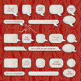 Vector origami & speech bubbles collection Royalty Free Stock Photo
