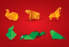 Vector origami Tier Stockfotos