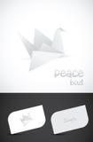 Vector origamidocument vogelpictogram Royalty-vrije Stock Foto's