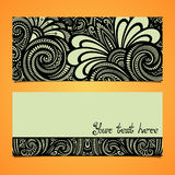 Vector Original Floral Banner. Decorative Floral Template for Card Royalty Free Stock Image