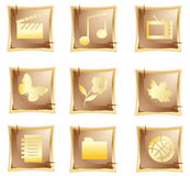 Vector original gold icon Royalty Free Stock Photography