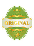 Vector original  label Stock Photo