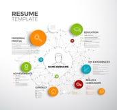 Vector original minimalist cv / resume template Stock Photography