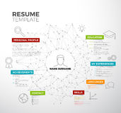 Vector original minimalist cv / resume template Stock Photos