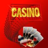 Vector original signboard for modern casino Stock Photo