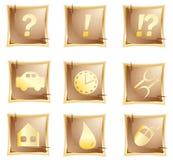 Vector origineel gouden pictogram Royalty-vrije Stock Foto's