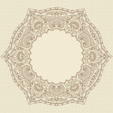 Vector ornament. Vector vintage ornamental background with place for text Royalty Free Stock Photo