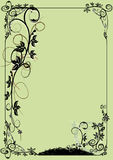 Vector ornament. In flower style Royalty Free Stock Images