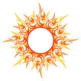 Vector ornament, abstract sun, fire. Vector illustration of sun isolated on white background Royalty Free Stock Photo