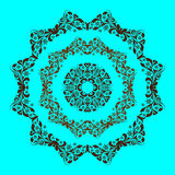Vector ornament on a blue background. EPS 10 royalty free illustration