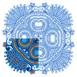 Vector ornament for coloring. Stock Photos