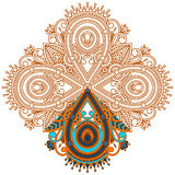 Vector ornament for coloring. Royalty Free Stock Image