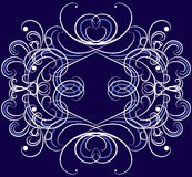 Vector ornament on the dack blue background. Stock Photography