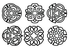 Vector ornament, decorative Celtic knots and curls set. Round Celtic Ornament Intertwined vector illustration. decorative Celtic knots and curls set vector illustration