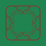 Vector ornament design element. Antique flora frame and place for text. Vector ornament design element. Antique frame and place for text Stock Photo