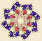 Vector ornament flower iris Stock Image