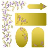 Vector ornament with flowers and leaves. Stock Photos