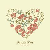 Vector Ornament Heart. Colorful flowers. Vector Ornament Heart consist of Colorful flowers Stock Images