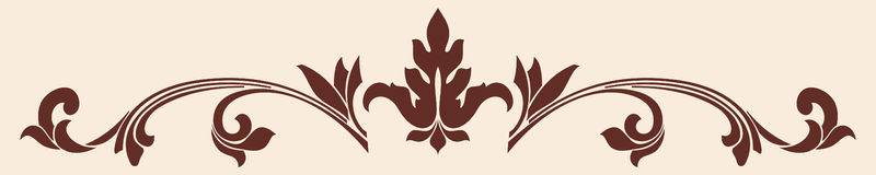 Vector ornament in the old Gothic style to the design. Brown pattern on a beige background Royalty Free Stock Images