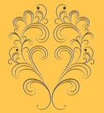 Vector ornament op een oranje achtergrond. Royalty-vrije Stock Foto's