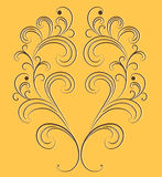 Vector ornament on an orange background. Royalty Free Stock Photos