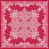 Paisley Bandana print. Vector ornament paisley Bandana Print, silk neck scarf or kerchief square pattern design style for print on fabric royalty free illustration
