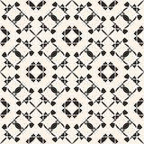 Vector ornament seamless pattern. Black and white repeat geometric background. Vector ornament seamless pattern. Black and white repeat ornamental texture Royalty Free Stock Images