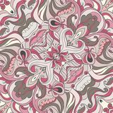 Vector Ornament of seamless Pattern. Vector Gentle ornament. Wedding pattern. Silk scarf Royalty Free Stock Photography