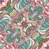 Vector Ornament of seamless Pattern. Vector Gentle ornament. Wedding pattern. Silk scarf Royalty Free Stock Images