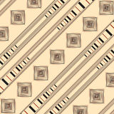 Vector ornament with squares and strips Royalty Free Stock Images
