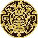 Vector ornament in the style of the ancient Maya Royalty Free Stock Photography
