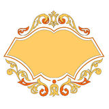 Vector ornament template Stock Photography