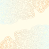 Vector ornamental background. Vector illustration with vintage pattern for invitation card Stock Images