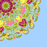 Vector ornamental background. Vector illustration with vintage pattern for print Stock Photography