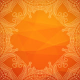 Vector ornamental background. Vector background with geometric pattern and lace ornament. You can use this pattern for greeting or invitation card, label design Stock Photos