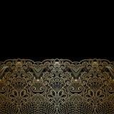 Vector ornamental background. Vector illustration with vintage floral pattern for invitation card Stock Images