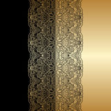 Vector ornamental background. Vector illustration with vintage lace floral pattern Stock Photo