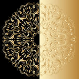 Vector ornamental background. Vector illustration with vintage lace floral pattern Royalty Free Stock Photos