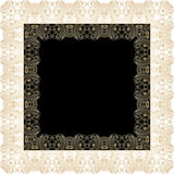 Vector ornamental background. Vector illustration with vintage lace floral pattern Stock Photography