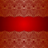 Vector ornamental background. Vector with vintage floral pattern for birthday or invitation card Stock Image