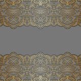 Vector ornamental background. Vector with vintage floral pattern for greeting or invitation card Stock Images