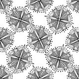 Vector ornamental background with zentangle flowers.  Stock Photography