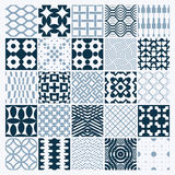 Vector Ornamental Black And White Seamless Backdrops Set, Geometric Patterns Royalty Free Stock Photography