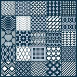 Vector ornamental black and white seamless backdrops set, geomet. Ric patterns collection. Ornate textures made in modern simple style stock illustration