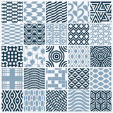 Vector ornamental black and white seamless backdrops set, geomet. Ric patterns collection. Ornate textures made in modern simple style Stock Photo