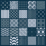 Vector ornamental black and white seamless backdrops set, geomet. Ric patterns collection. Ornate textures made in modern simple style Stock Image