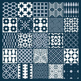 Vector ornamental black and white seamless backdrops set, geomet. Ric patterns collection. Ornate textures made in modern simple style Royalty Free Stock Image