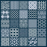 Vector ornamental black and white seamless backdrops set, geomet. Ric patterns collection. Ornate textures made in modern simple style Stock Photography